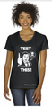TEST THIS Tee-Shirt  (Womens V-Neck) (100% Cotton)