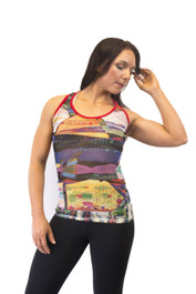 womens singlet top front view