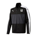 Puma Veloce Stadium Jacket, Black, Front - Timber Barons