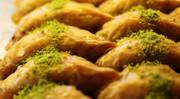Sobiyet (Rolled Baklava w/ pistachio nuts & cream)