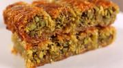 Burma Kadayif (Rolled, shredded phyllo dough w/ pistachios)