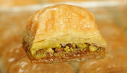 Small Tray of Fistikli Baklava w/Pistachio nuts (1 Tepsi) - 40 Pcs