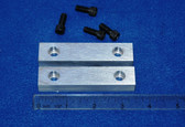 3-1/2 x 3/4 x 1/2 Aluminum Wilton Vise Jaws:  Fits the Wilton Cadets