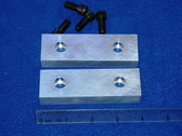 4 x 1-1/4 x 5/8 Aluminum Wilton Vise Jaws:  Fits the Post 1974 Wilton #101157 Vise.