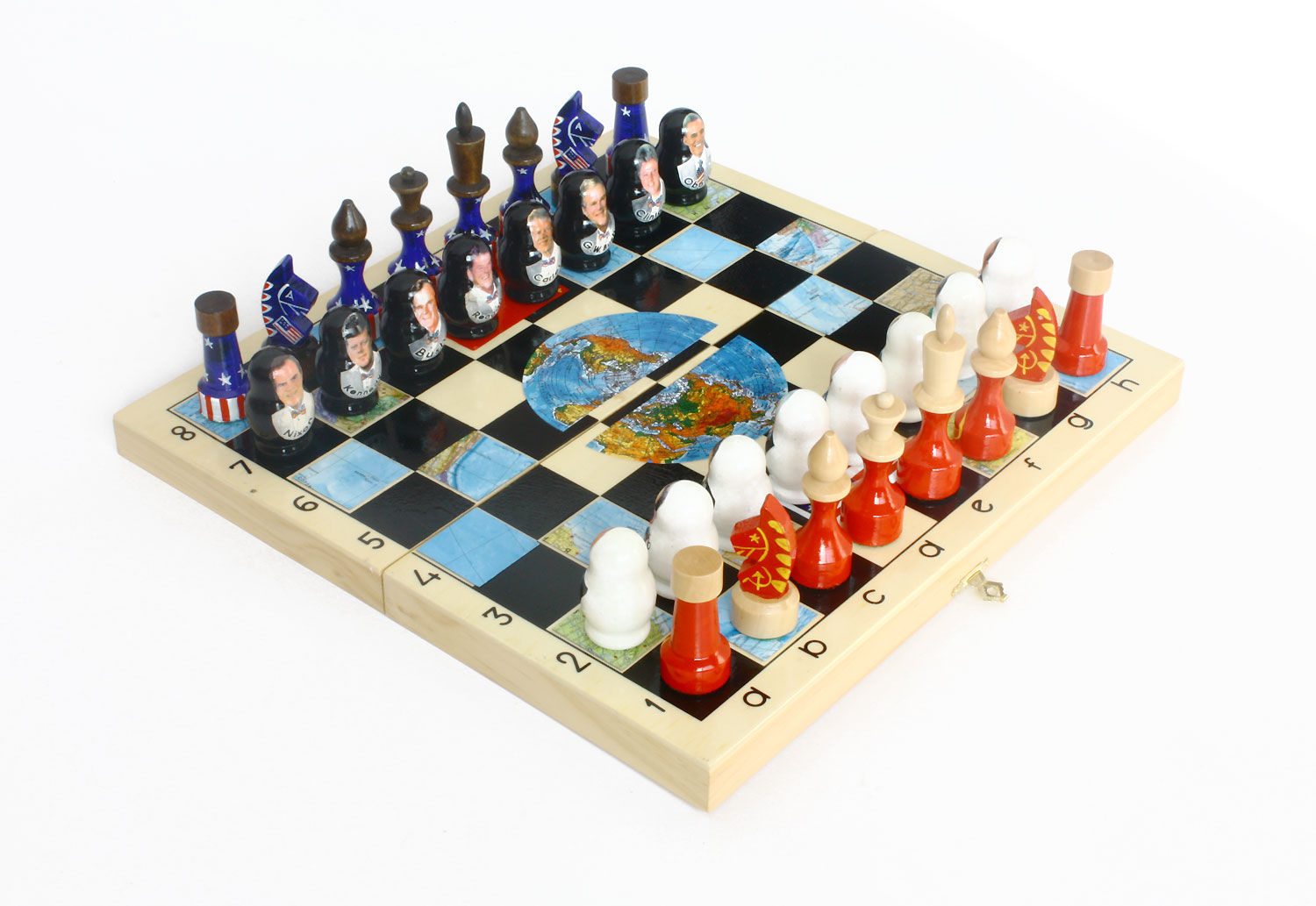 Wooden Hand Carved Russian Chess Sets