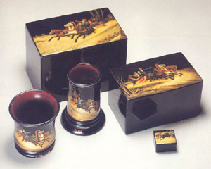 antique lacquer boxes by Lukutin and Vishnyakov