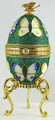 Butterfly Treasure - Musical Box | Faberge Style Egg