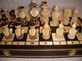 """Hand carved Chess Set """"Wave"""""""