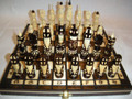 """Hand Carved Chess Set """"Swedes"""""""