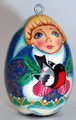 Snowmaiden Lacquered Egg Ornament