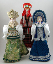 Costumes vary in color and decorative detail. You may specify general color: blue, red, green.