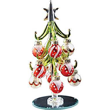 Glass Christmas Tree Tiny Christmas Tree Miniature Christmas Tree