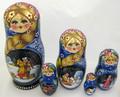 Winter Village 5 nest Doll