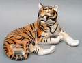Lying Tiger, Rare collectible Russian Porcelain