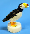 Ivory Puffin with Fish | Alaskan Ivory Carving