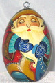 Grandfather Frost Lacquered Egg Ornament