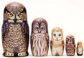 Great Horned Owl | Alaska Theme Matryoshka Nesting Doll