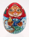 Kitten with Baby Chick | Russian Christmas Ornament