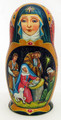 Nativity by Olga Sukhovei | Religious Theme Matryoshka Nesting Doll
