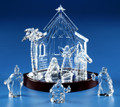 Miniature Nativity Set & Base | Russian Nativity Theme