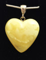 Butterscotch Amber Heart Pendant - small