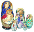 Nativity with Angels | Religious Theme Matryoshka Nesting Doll