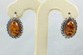 Amber Earrings, Classical Style