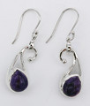 "Charoite Earrings ""Fun Times"""