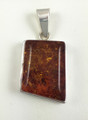 Rectangular Amber Pendant | Baltic Amber