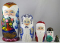 Happy Santa | Matryoshka / Nevalashka Doll
