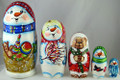 Snowman with Toys | Matryoshka / Nevalashka Doll