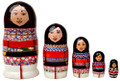 Inuit Eskimo Women Doll | Alaska Theme Matryoshka Nesting Doll