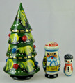 Christmas Tree - 3 Nest | Matryoshka / Nevalashka Doll