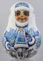 Snow Maiden with Little Bird - Blue Coat | Nevalashka Musical Doll