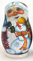 Santa with Happy Snowman | Matryoshka / Nevalashka Doll