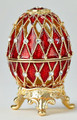 Egg Box with Grid - Red | Faberge Style Egg