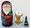 Russian Christmas 3 Piece set | Matryoshka / Nevalashka Doll