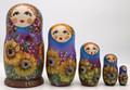 Sunflower Girl   Fine Art Matryoshka Nesting Doll