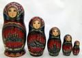 Kizhi Nesting Doll - Red Dress | Unique Museum Quality Matryoshka Doll
