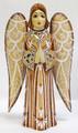 Hand Carved Angel - Brown Dress