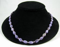 Charoite Bead Necklace.