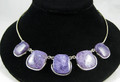 Russian Charoite and Silver Necklace