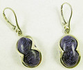 "Charoite Earrings ""Linda"" ll"