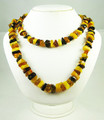 Multi-Colored  Amber Beaded Necklace