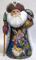 Santa with Nativity and  an Angel