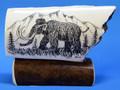 Woolly Mammoth Scrimshaw by George Vukson