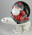 Santa Riding a Polar Bear