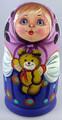 Vera with a Bear | Traditional Matryoshka Nesting Doll