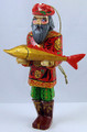 Man with Fish | Russian Christmas Ornament