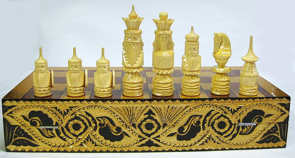 64789083 Fancy Russian Vikings Chess Set
